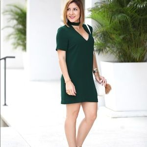 Nice and classy green dress.